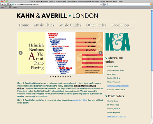 Pindar Creative build new website for specialist book publishers, Kahn & Averill