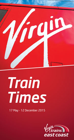 Pindar Creative produce the new Virgin East Coast timetable booklet