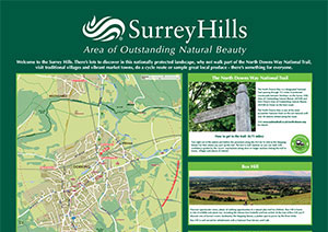 Wayfinding Poster Project for Surrey Hills