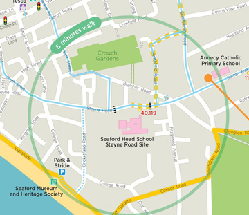 Seaford Active Travel Map