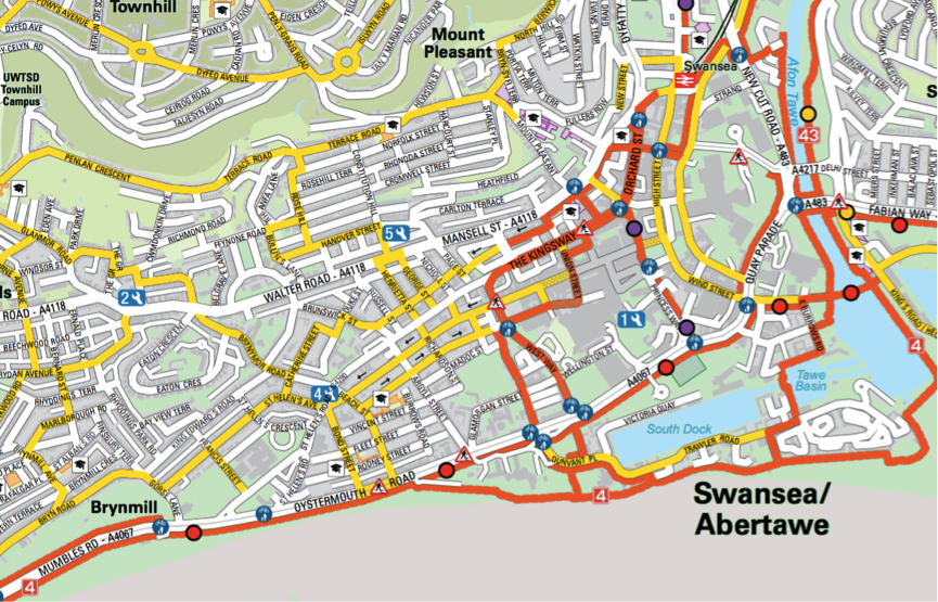 First Active Travel Map For Wales News From Pindar Creative - Travel mapping software