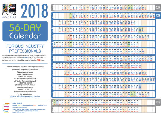 Download the 2018 56-day calendar
