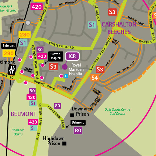 Sample Site Map: Business Maps: Travel To Work Or Location Maps For Visitors, From Pindar Creative