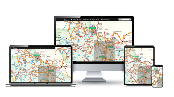Interactive Mapping on desktops, tablets and smartphones